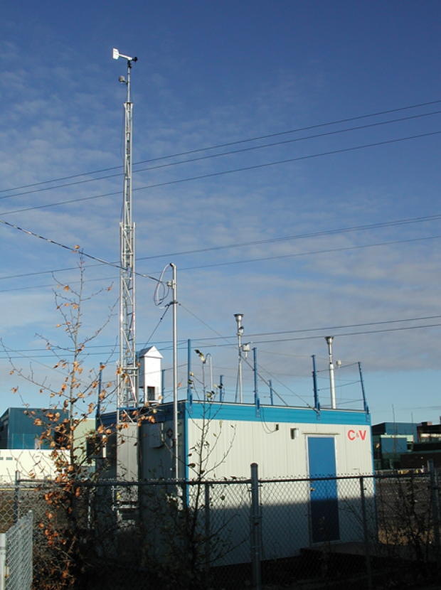 Air quality monitoring stations.