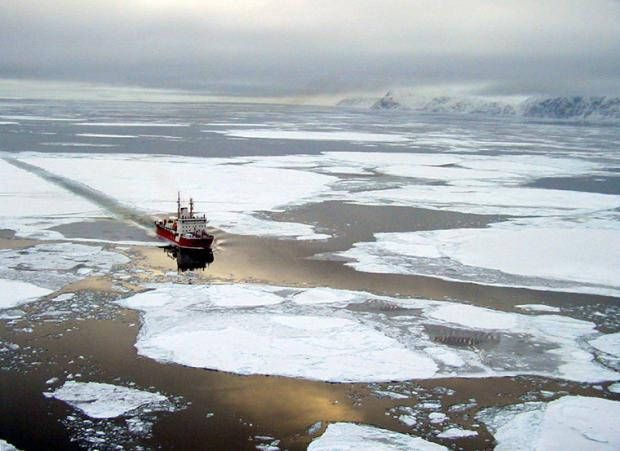 Canadian Coast Guard Service (CCGS) Amundsen during the Canadian Arctic Shelf Exchange Study in 2003-2004