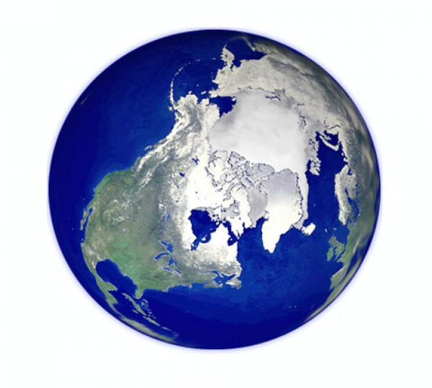 Composite Arctic View of Earth