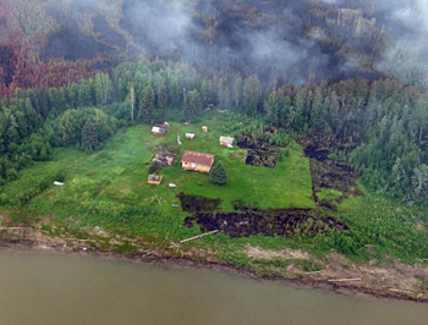 A properly protected cabin, which was 'fire smarted', survived a forest fire during the summer of 2014.