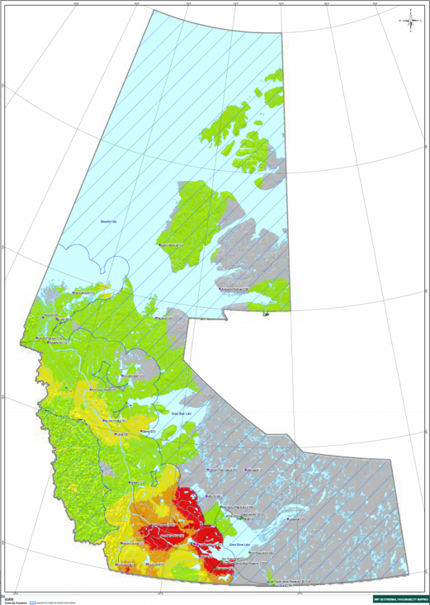 Map - Geothermal favourability - NWT