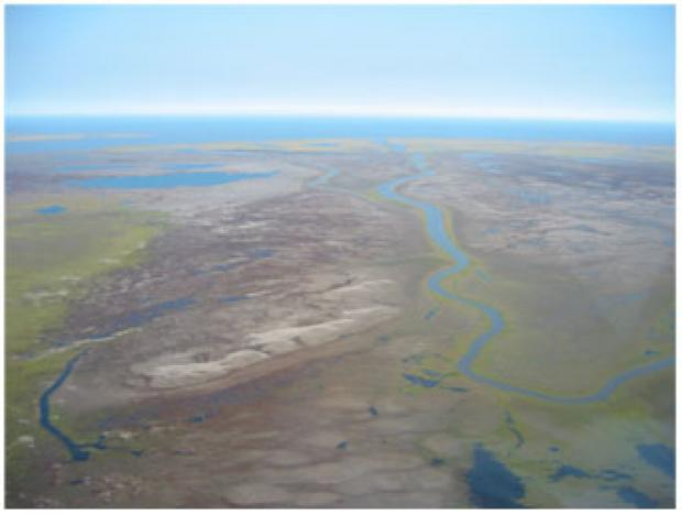 Outer Mackenzie Delta after 1999 - storm surge dead zone