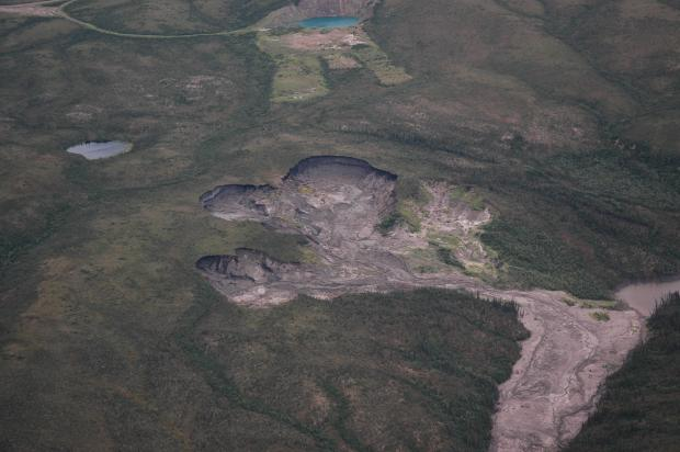 Slumping near the Dempster Highway