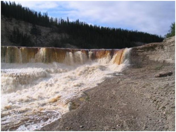 Water in the Taiga Plains: Falls along the Hay River.