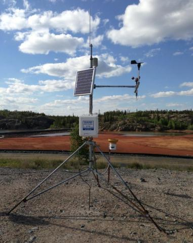On-site meteorological station